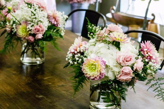Hafner Florist Arrangements in Showroom
