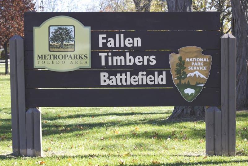 Fallen Timbers Battlefield Sign