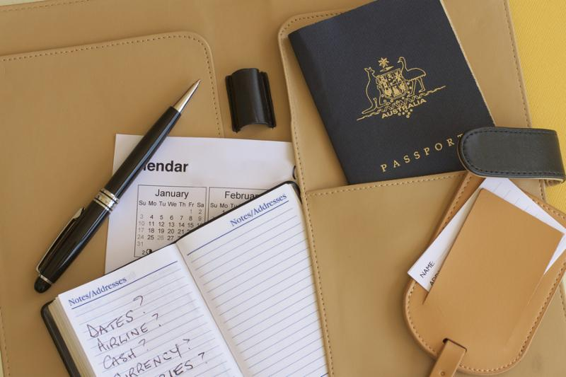 A number of tools appropriate for planning a leisure or business trip overseas.