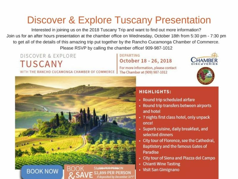Tuscany After Hours Presentation