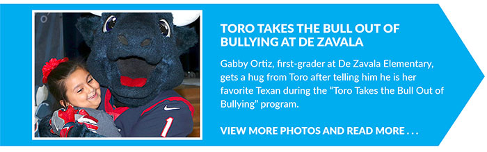 Toro Takes the Bull out of Bullying at De Zavala