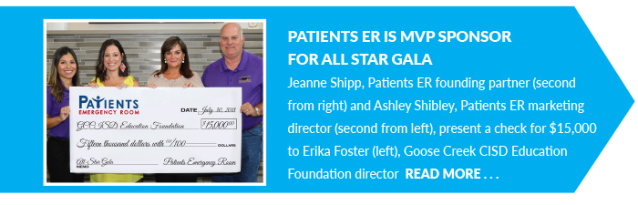 Patients ER is MVP Sponsor for All Star Gala
