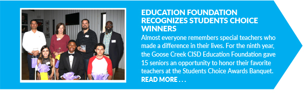 Education Foundation Recognizes Students Choice Winners