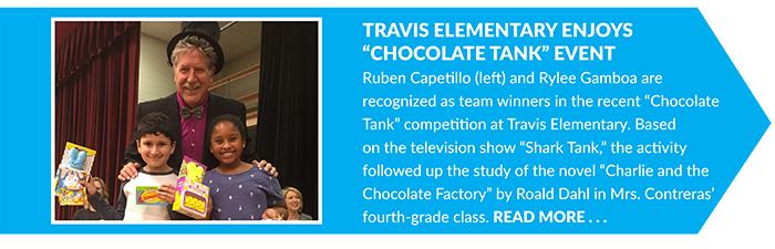 Travis Elementary Enjoys _Chocolate Tank_ Event