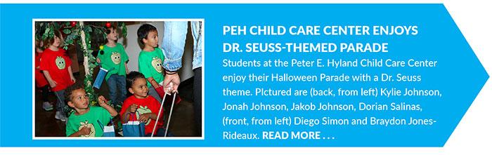 PEH Child Care Center Enjoys Dr. Seuss-Themed Parade