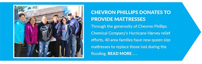 Chevron Phillips donates to Provide Mattresses