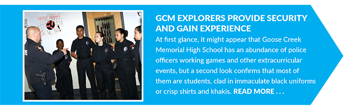 GCM Explorers Provide Security and Gain Experience