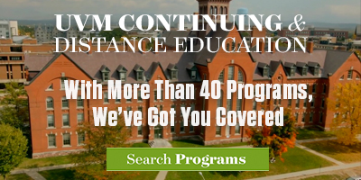 Sponsored by UVM Continuing and Distance Education