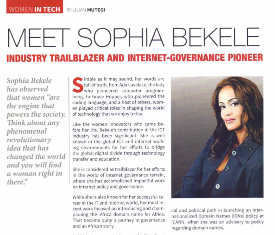 News Alert: CIO Names #WOMENINTECH Sophia Bekele,