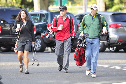 Golf threesome