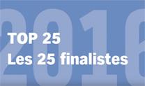 Les 25 finalistes