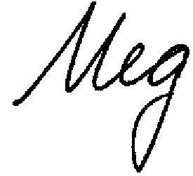 Meg only signature