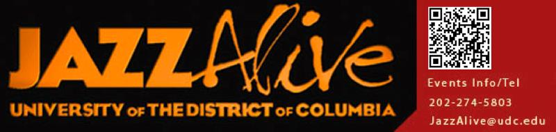 JAZZAlive University of the District of Columbia logo with QR code