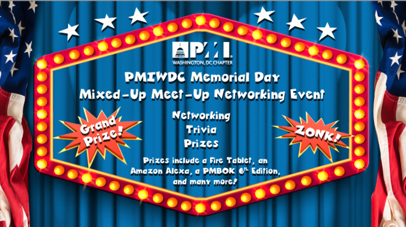 May 2018 Monthly Chapter Event (Dinner)   PMI Washington DC