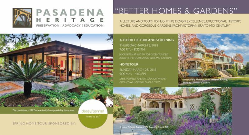 Pasadena Heritage Presents \