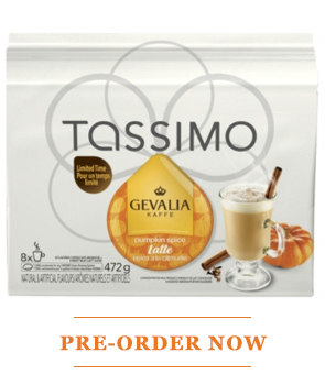 Get it FIRST! Tassimo Pumpkin Spice Latte & Peppermint Mocha!