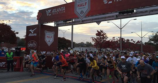 Thanksgiving Day Half Marathon Events hosted by the Atlanta Track Club
