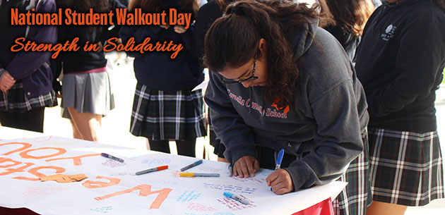 Student Walkout Day - Strength in Solidarity