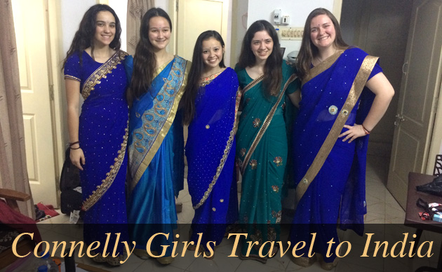 Students in sarees