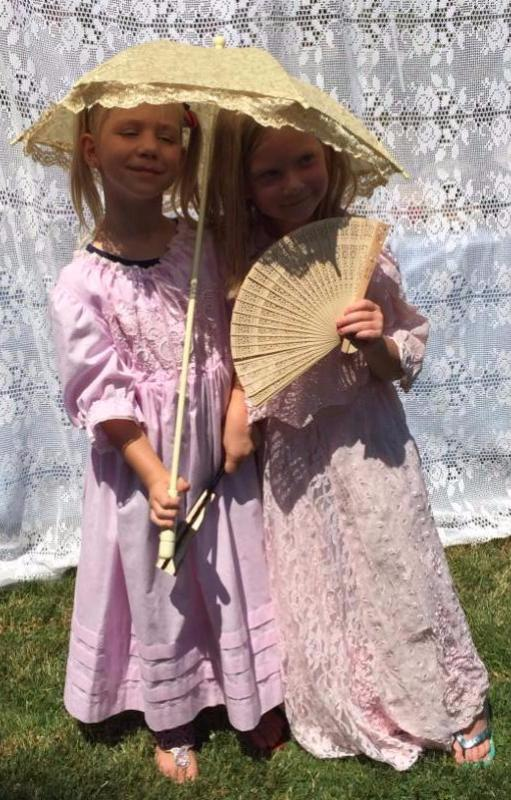 Kids enjoy vintage clothes from Grandma's Attic