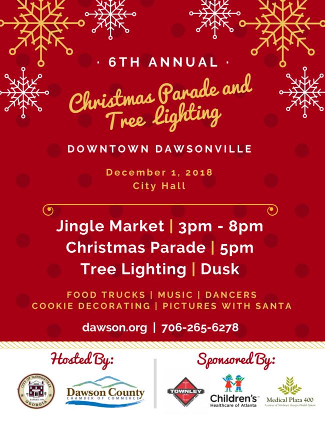 Dawsonville Christmas Parade and Tree Lighting - Dec 1, 2018 ...