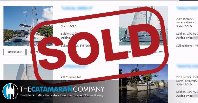 90 day Catamaran Sales Update 
