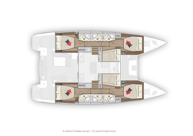 New Lagoon 50 - 6 Cabin version