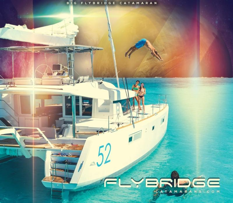 Lagoon 52 flybridge sailing vacation business opportunity