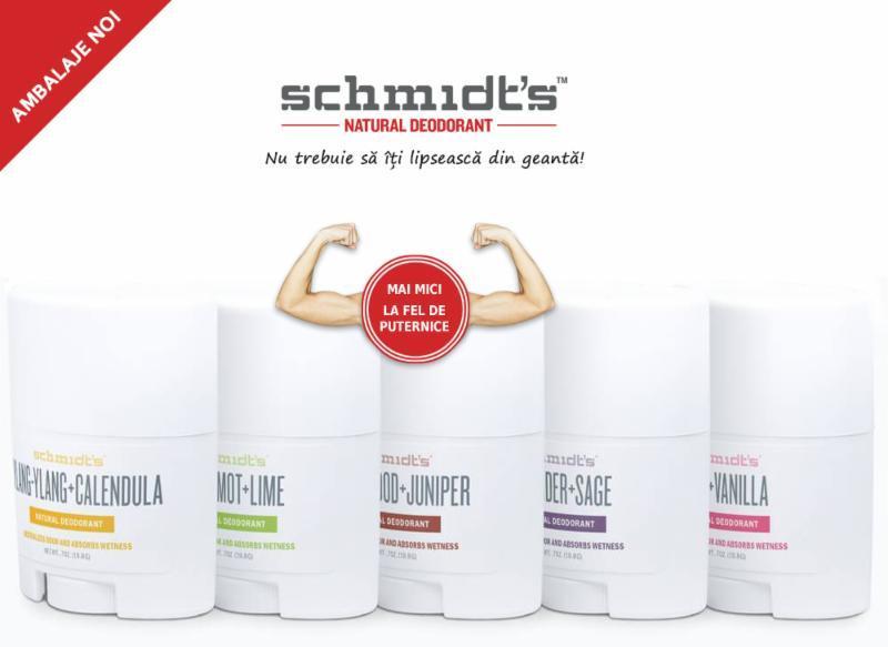 Schmidt's - deodorante naturale eficiente, castigatoare a numeroase premii internationale