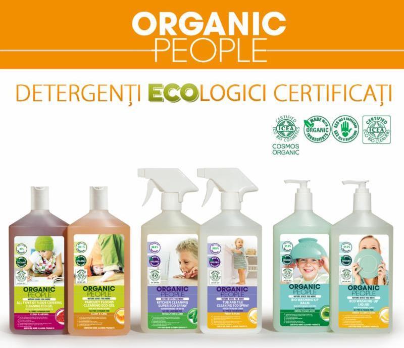 ORGANIC PEOPLE, detergenti ecologici certificati! Detergentii ORGANIC PEOPLE sunt formulati cu ingrediente 100% naturale si sunt imbogatiti cu extracte si uleiui vegetale organice, pretioase si eficiente.
