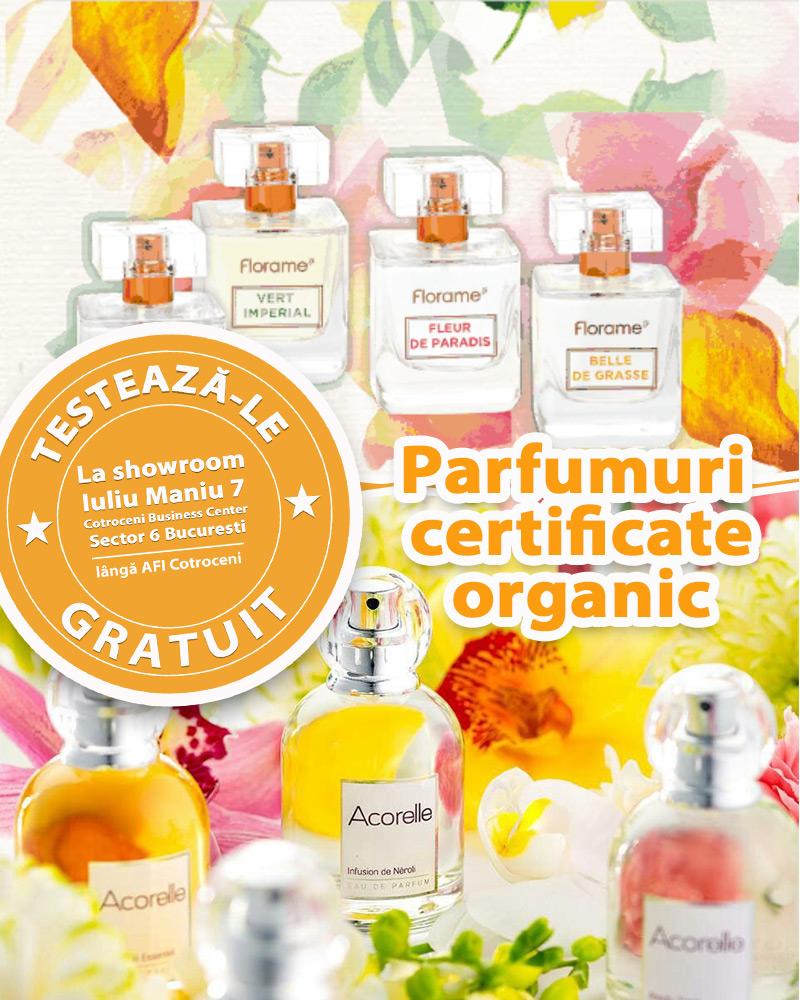 Testeaza GRATUIT toate parfumurile bio de pe site la showroomul de langa AFI Cotroceni