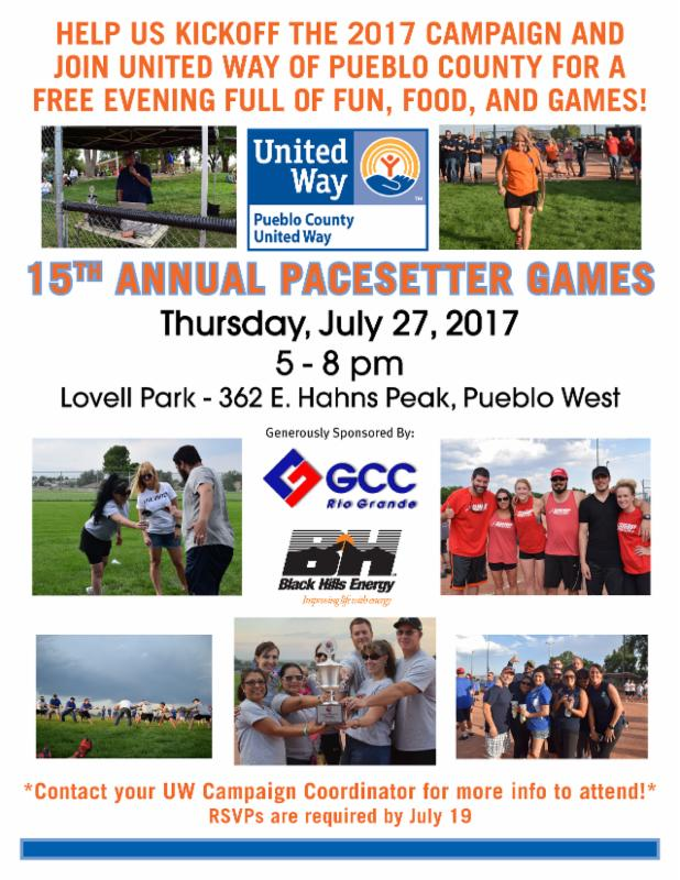 Mark Your Calendar - 15th Annual Pacesetter Games!