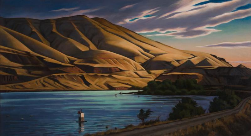 2016 Oregon Arts Summit : Daniel Robinson painting exhibited in governor's office