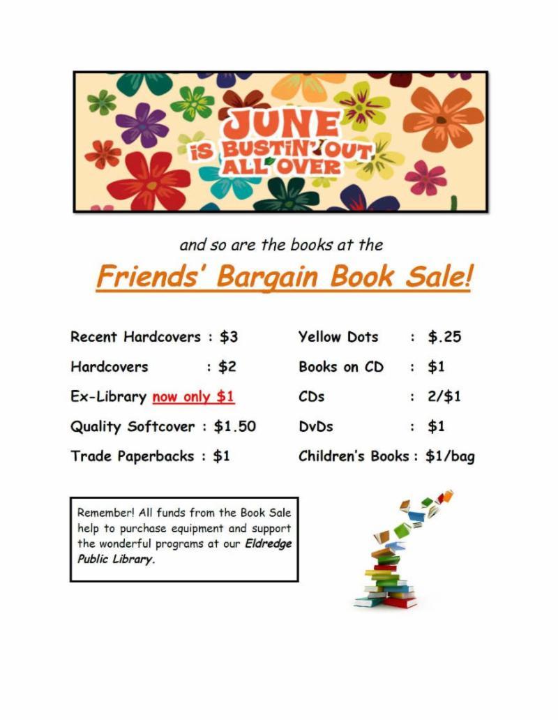 june 2018 Book sale Flyer