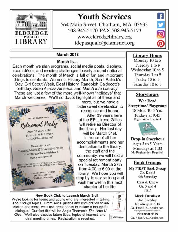 March 2018 Youth Newsletter