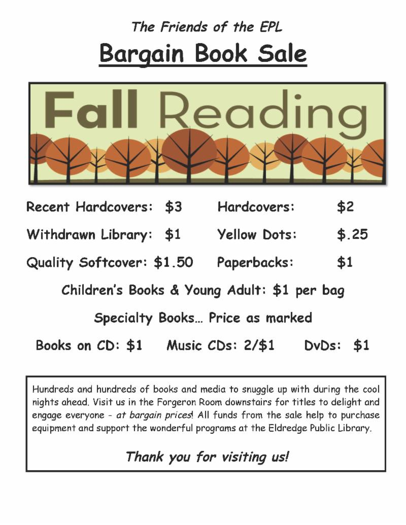 Fall 2018 book Sale Flyer