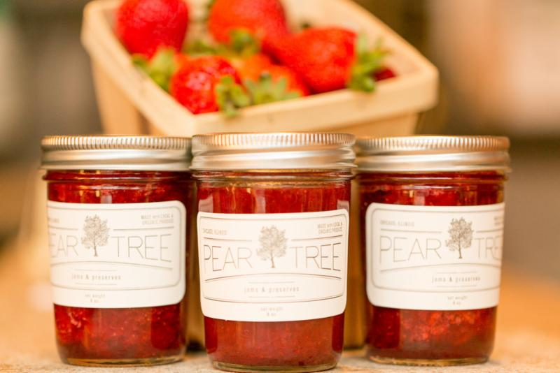 Pear Tree Preserves strawberries