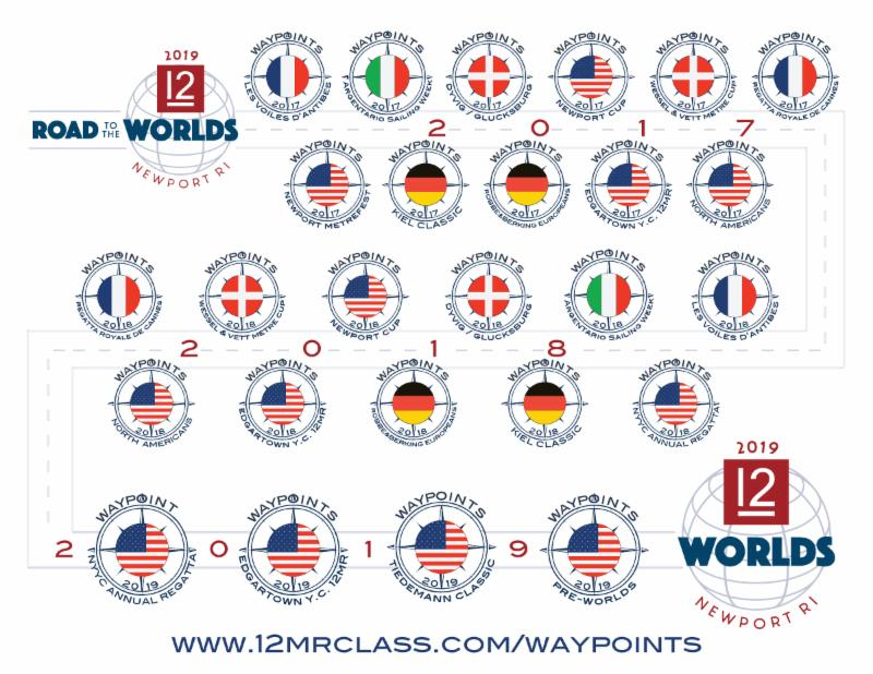 12mR Road to the Worlds Waypoints Regatta Series Map