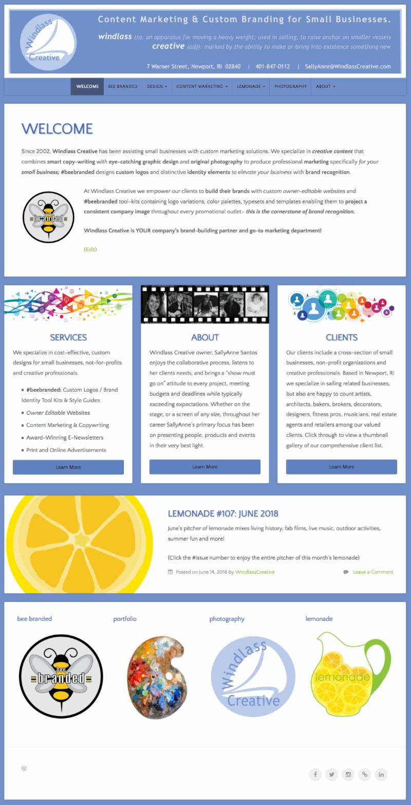 Windlass Creative website