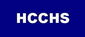 HCCHS on blue background