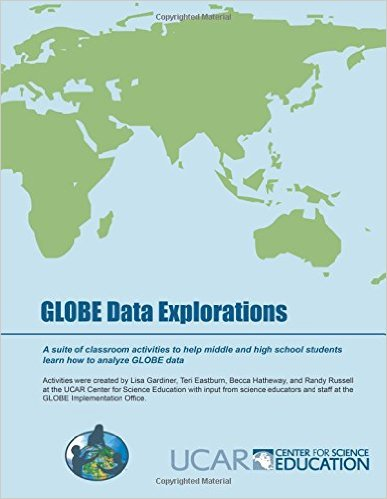 GLOBE Data Explorations with a map image.