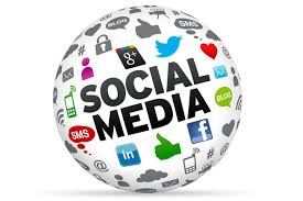 A ball of different social media tools.
