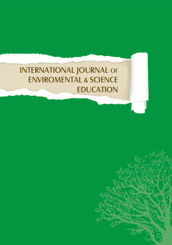 "A picture of a green article titled ""International Journal of Environmental & Science Education"""