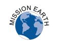 "A picture of planet earth with the words ""Mission Earth"" around it."