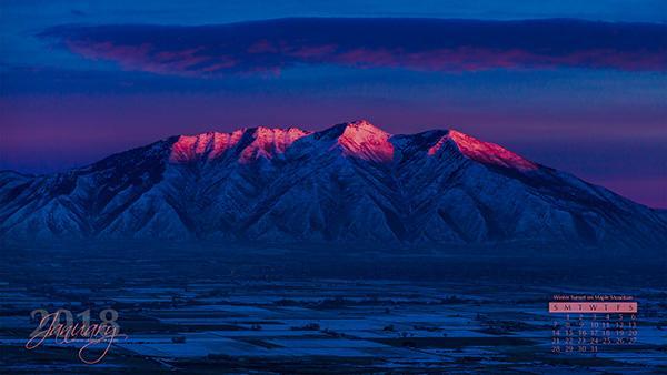 Sunset on Maple Mountain