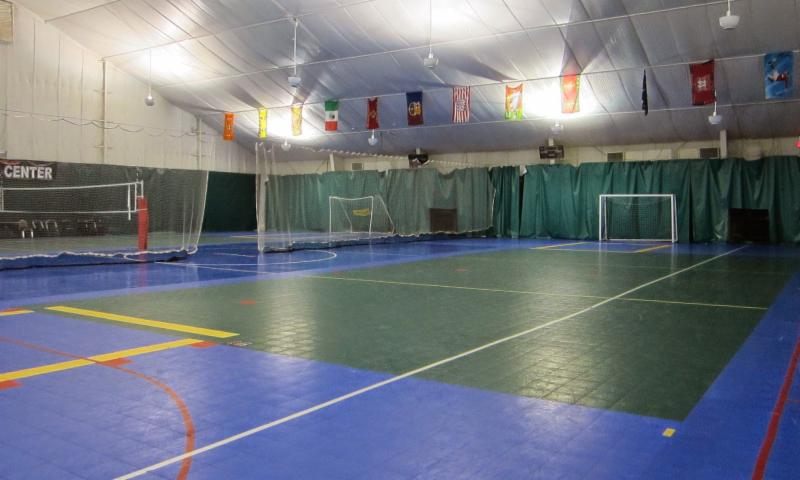futsal court of Fairfax Athletic Center