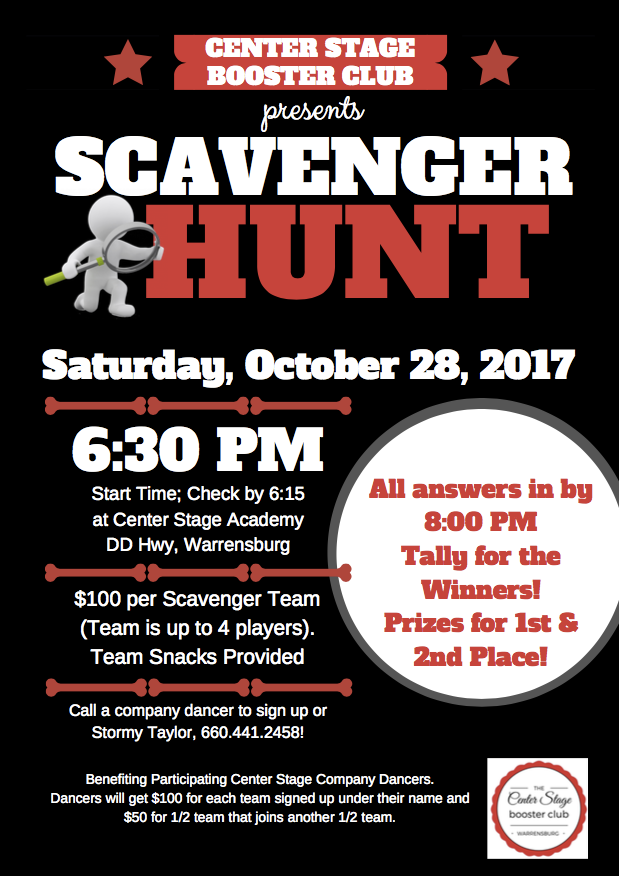 CS Company Scavenger Hunt Fundraiser