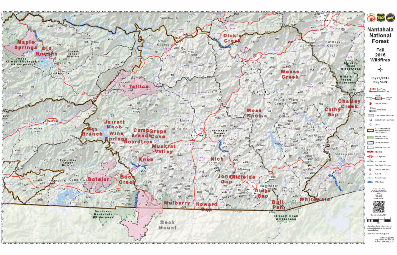 North Carolina Wildfire Map.National Forests In North Carolina Alerts Notices