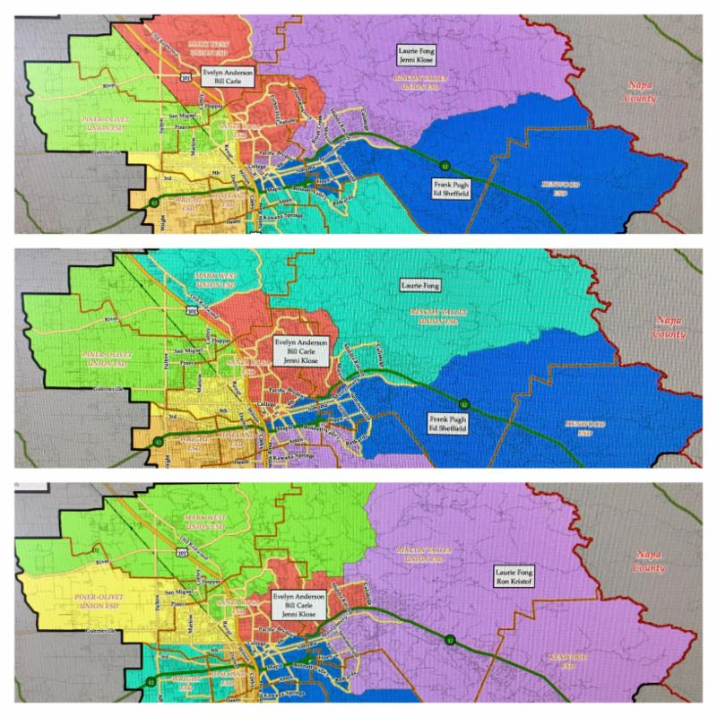 Collage of three By-Trustee map scenarios