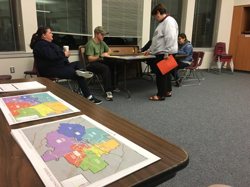 Election maps at Piner HS